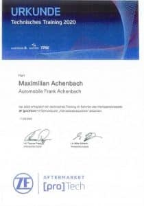 Zertifikate M. Achenbach + K. Reuchsel_Seite_1