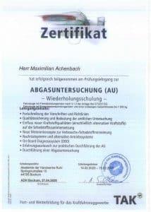 Zertifikate M. Achenbach + K. Reuchsel_Seite_2